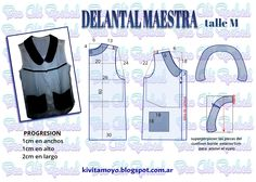 KiVita MoYo: DELANTAL DE MAESTRA  talle M Dress Patterns, Sewing Patterns, T Shorts, Diy Clothes, Baby Dress, Smocking, Apron, Sewing Projects, Couture
