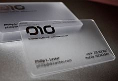 200 Custom Made Personalized Impressive Unique Plastic PVC Frosted Transparent Business Name Cards  Clients provide PRESS-READY artwork (350.00 HKD) by SkyparkCollections