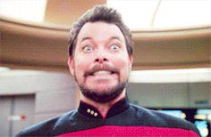 Sometimes all our day needs is a creepy Riker gif.