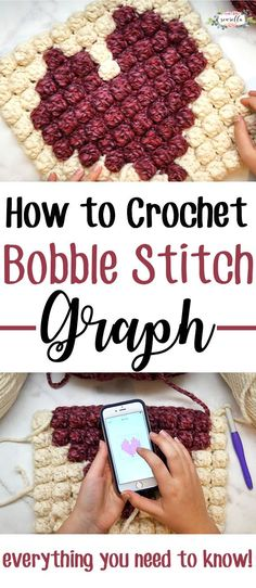 Learn to Crochet an easy Bobble Stitch Graph! It's so much simpler than you think, I'll show you everything you need to know from creating your graph to stitching up your design!