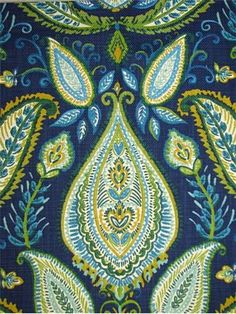 Ombre Paisley Aquamarine by Robert Allen Fabric Collection 2012 $24 a yard