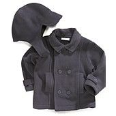 First Impressions Baby Set, Baby Boys 2-Piece Hat and Pea Coat MACYS