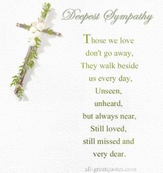 Deepest Sympathy Messages Mother  Deepest Sympathy Poems