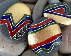 Tribal Dance / painted rock / painted stones / by LoveFromCapeCod