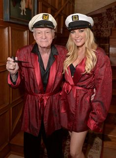 Radar Online | Hugh Hefner And Crystal Hefner Attend Playboy Mansion's Annual Halloween Bash At The Playboy Mansion