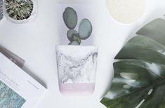 Concrete Planter / Pot Marble Pot medium square pot Vertical Succulent Gardens, Succulent Planter Diy, Succulent Centerpieces, Diy Planters, Blue Succulents, Hanging Succulents, Cactus Types, Kitchen Ornaments, Gold Color Scheme