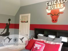 Fun Basketball room created by Christine Gangler Designs