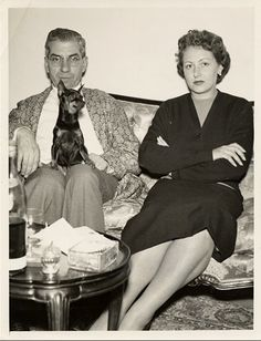 "Charles ""Lucky"" Luciano & wife. Omg!!! Boardwalk empire coming to life!"