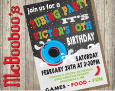 Snow tubing birthday party Invitation  by TiffsSweetDesigns