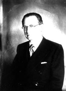 Il democristiano Alcide De Gasperi - 1947 di Ghitta Carell