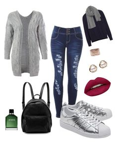 """""""Conforto"""" by sandra-heloisa on Polyvore featuring Sans Souci, Vince, adidas Originals, STELLA McCARTNEY, American Vintage, Repossi, Trilogy, Huda Beauty and Armani Beauty"""