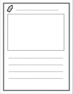 Free lined paper with space for story illustrations!