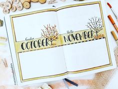 Bullet journal Fall Spread | by @mimitsudoodles via @showmeyourplanner