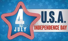 Star with Stripped Border with Label for Independence Day Celebration, Vector Illustration American Independence, Independence Day, Happy 4 Of July, 4th Of July, Fireworks, Celebration, Banner, Label, Stock Photos