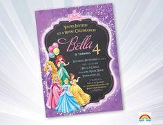 Princess Invitation - Disney Princess Invitation - Birthday Princess Invitation - Printable Princess Invite Birthday Party Disney Princesses by RyanDigitalPhoto on Etsy https://www.etsy.com/listing/242241040/princess-invitation-disney-princess