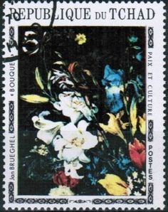 Stamp: Bouquet, by Jan Brueghel (Chad) (Paintings of Flowers) Mi:TD 377A