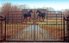 Horse inspired gate - but with cattle Dream Stables, Dream Barn, Horse Stables, Horse Farms, Farm Gate, Fence Gate, Fences, Tor Design, Gate Design