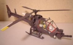 Blue Thunder Helicopter Paper Model - by Tata Craft Maker        By Japanese designer Tata Craft Maker, here is the Blue Thunder Helicopter, a very well done paper model with detailed interior.