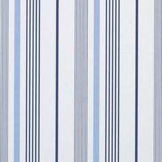 Gable Stripe French Blue by Ralph Lauren Ralph Lauren Fabric, Contemporary Wallpaper, Traditional Wallpaper, Striped Wallpaper, Blue Wallpapers, Striped Fabrics, Blue Tones, Paper Decorations, Textile Patterns