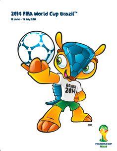 Fuleco, armadillo bolita, mascota ofcicial del Mundial Brasil 2014, especie en peligro de extinción