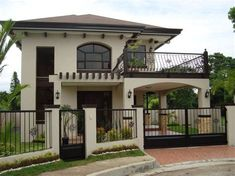 Simple house outer design house design 2 story house design in within good 2 storey house House Outer Design, Simple House Design, House Front Design, Modern House Design, Deck Design, 2 Storey House Design, Two Storey House, Bungalow Haus Design, House With Balcony