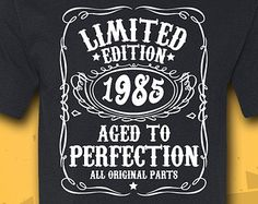 Birthday Gift - Turning 33 - 33 Years Old - Limited Edition 1982 Shirt - Tee - T-Shirt - Gift for Him - Funny 33rd Birthday, 80th Birthday Gifts, Birthday Gift For Him, 30th Birthday Parties, Birthday Diy, Birthday Quotes, Birthday Wishes, Birthday Invitations, Birthday Ideas