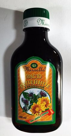 Burdock Oil With Calendula Strengthens Hair 100ml. MIRROLLA !!! SUPER!!! *** Read more  at the image link.