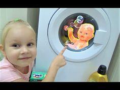 BAD BABY Беби Борн в СТИРАЛЬНОЙ машинке !!! Baby born in a WASHING machi...
