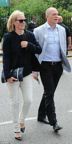 1ad38c90167 Zara Phillips Tindall and Mike Tindall at Wimbledon