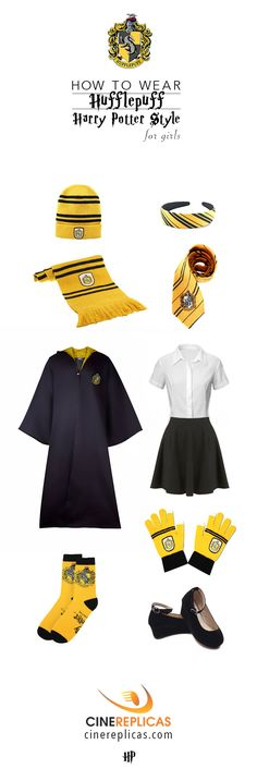Hufflepuff Harry Potter Style for Boys  #HarryPotter #hufflepuff www.cinereplicas.com