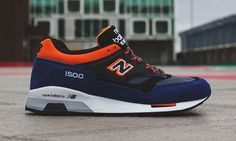 "New Balance Made in England M1500 ""Blue/Black/Orange"" • Highsnobiety"