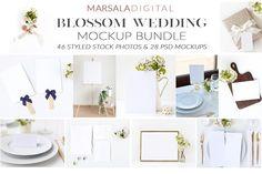 Blossom Wedding Mockup Bundle by Marsala Digital on @creativemarket