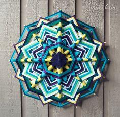 Mandala (Ojo de dios / God's eye) -Day and Night- (16 sided, 18 inch)