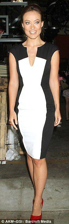Olivia Wilde, love black and white dresses