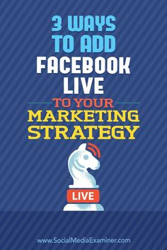 Looking for ideas to help you broadcast more often?In this article, you�ll discover three creative ways to use Facebook Live. #SocialMediaExaminer