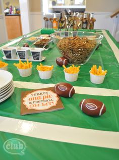 Pauline from Club Chica Circle has great tips for fun football party decor ideas, and 2 great recipes for you to try Marshmallow Footballs and Pigs in a Pie)! Great party supplies from @Carla Costephens Plus World Market. #WorldMarket #PMedia