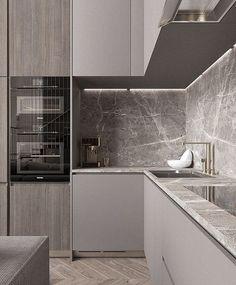 33 Trendy Kitchen Backsplash Modern Back Splashes Interior Design Kitchen Room Design, Luxury Kitchen Design, Home Decor Kitchen, Interior Design Kitchen, New Kitchen, Kitchen Grey, Kitchen Modern, Kitchen Ideas, Kitchen Colors