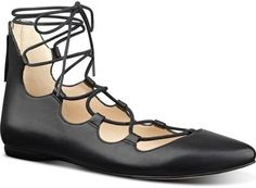 Nine West 'Sign Me Up' Ghillie Flat (Women)