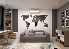 Дизайн интерьера спальни в трёхкомнатной квартире 106 кв.м в стиле хай-тек Home Art, Living Room Designs, Interior Design, Projects, House, Home Decor, Kitchen, Quotes, Outfits