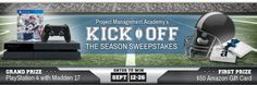 Kick Off The Season Giveaway Sweepstakes | PMP Certification and... IFTTT reddit giveaways freebies contests
