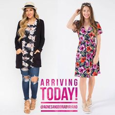 Today is the day these beauties arrive! Join the FB group for first dibs! Link in bio! . . . #agnesanddora #agnesanddorabyayano #spring #floral #mystyle #tunic #shopsmall #supportsmallbusiness #smallbiz #dotd #igfashion #fashion #shopmyprettythings #madeinusa #retailtherapy #monday #thatsdarling #springfashion #swing #onlineshopping #dress #swing #tunic #wanderlust #comfy #comfyclothes #leggings #comingsoon #cardigan #pretty #shopping