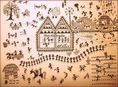 Warli Art.....Tribal Indian Art by SketchiiStudio on Etsy, $10.99