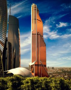 Mercury City Tower in Moscow, Russia, 332 m (under construction).