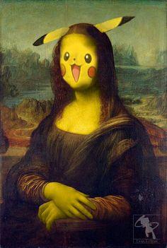 Pika Chu Mona Lisa