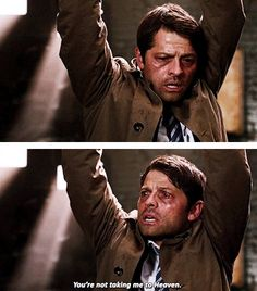 [gifset] 11x01 Out The Darkness, Into The Fire #SPN #Castiel