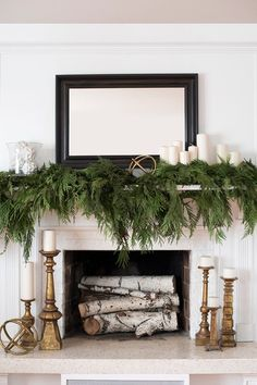 Winter Decorating Ideas Mantel Decor