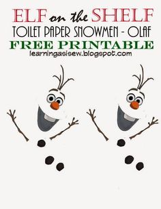 Elf on the Shelf: Do you want to build a SNOWMAN? to use with a roll of toilet paper! #elfontheshelf
