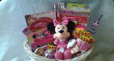 Or, build your own brand with a free store. Minnie Mouse Gifts, Mickey Mouse, Easter Baskets For Toddlers, Welcome Baskets, Spring Fair, Themed Gift Baskets, Kid Character, Some Ideas, Basket Ideas