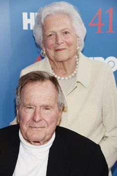 President George H W Bush and Mrs. Barbara Bush, June They won't be at the inauguration as they both are sick and wish Trump their best Presidents Wives, American Presidents, American History, Barbara Bush, Bush Family, Presidential History, Famous Couples, Important People, Former President