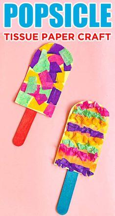 Summer Popsicle Tissue Paper Craft For Kids